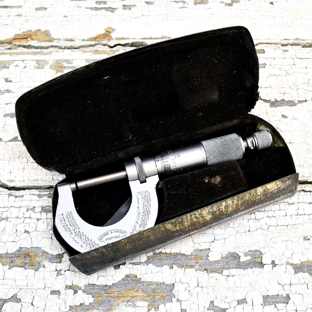 Vintage Moore & Wright Micrometer in Case.