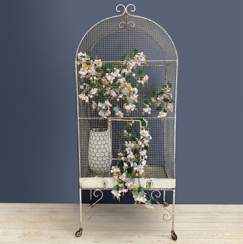 Vintage French Birdcage On Wheels