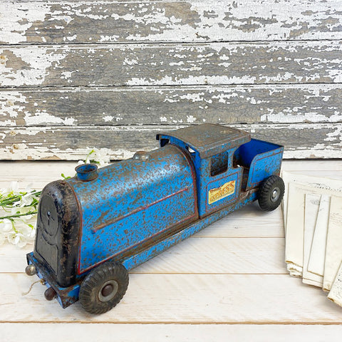 Triang Express, Vintage Metal Blue Toy Train.