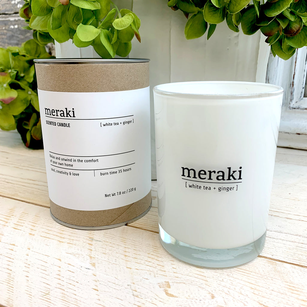 Meraki White Tea & Ginger Candle.