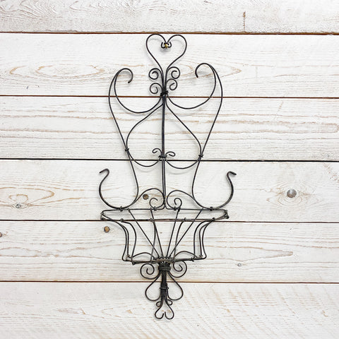 Decorative Vintage Wire Wall Planter