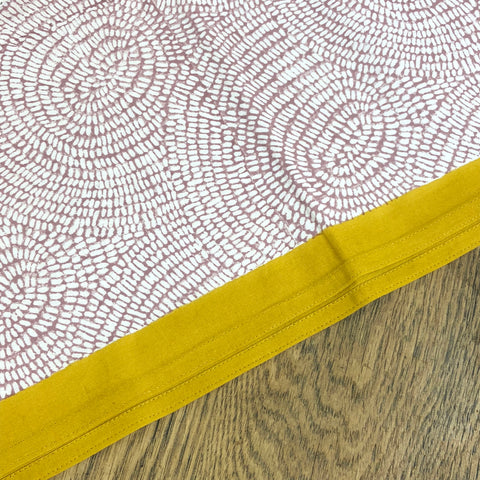 Zen Rose and Primrose Hem Table Cloth.