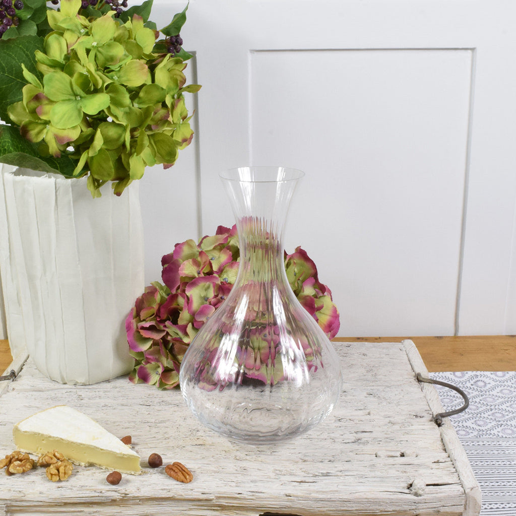 Crystal red wine decanter
