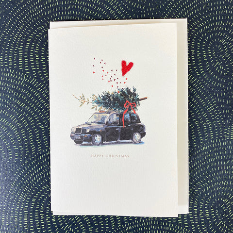 Elena Deshmukh Card, Happy Christmas Black Cab.