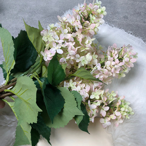 Silk-Ka Faux Flowers: White Hydrangea Stem