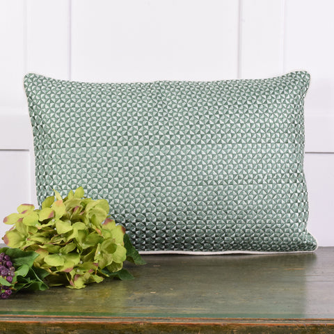 Mosaic Green Cushion.