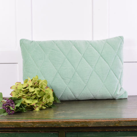 Velvet quilt ming cushion