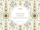 Kobo candle, Orange Amber, Orange zest, French Amber, Melon