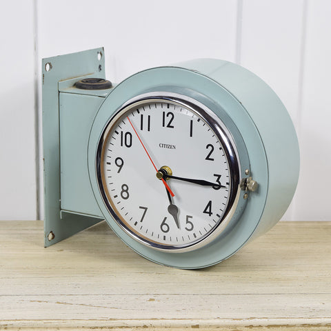 Dual Face Vintage Citizen Ship Clock