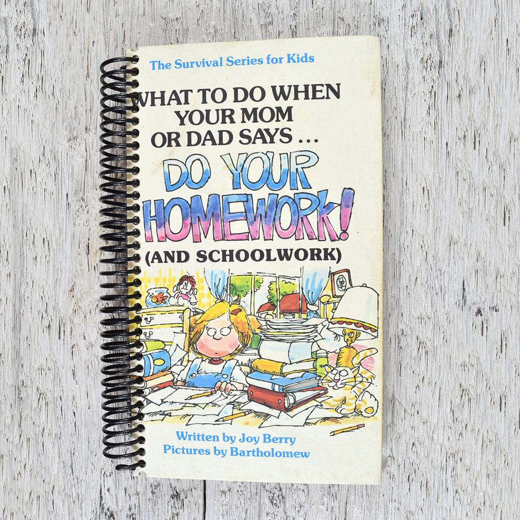Vintage Do your Homework notebook