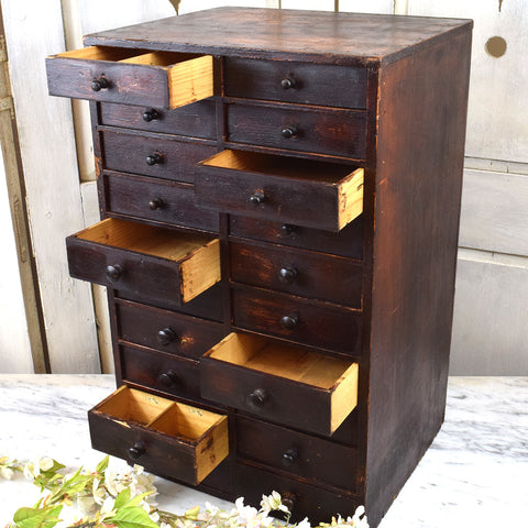 Wood stained drawers