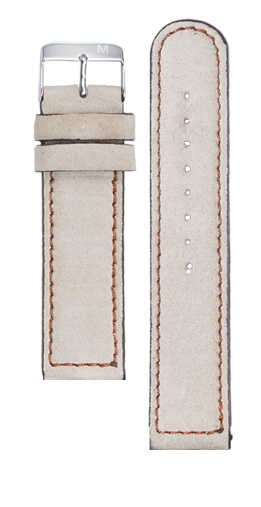 Cream suede strap - Brown stitching - Flash Automatic