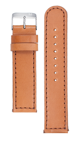 Tan calf leather strap - Brown stitching - Flash Automatic