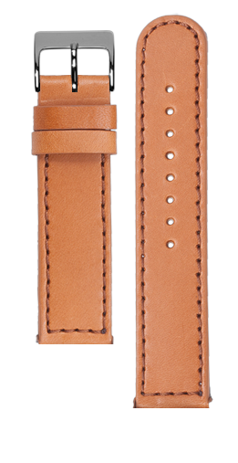 Tan calf leather strap - Brown stitching - Bespoke