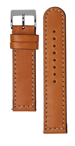 Tan calf leather strap - Tan stitching - Bespoke