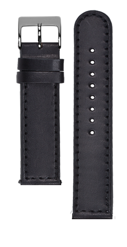 Black calf leather strap - Black stitching - Bespoke