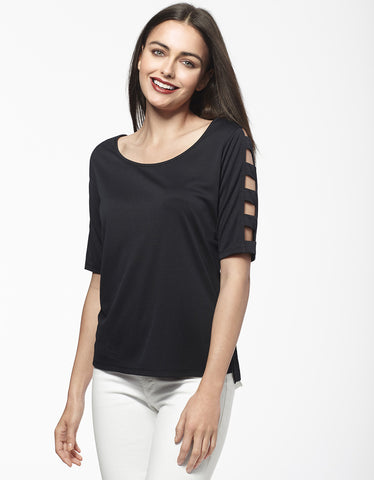 Ladder Sleeve T-Shirt
