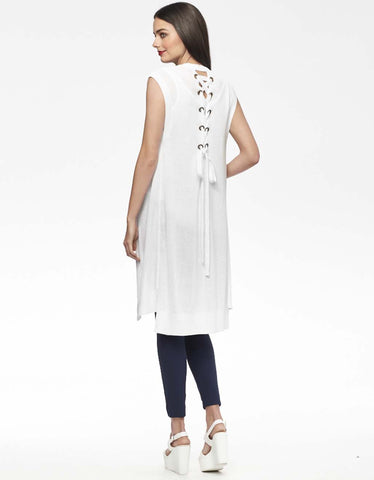 Longline Vest with Lace-Up