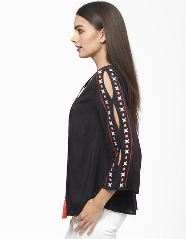 Folk Embroidered Blouse