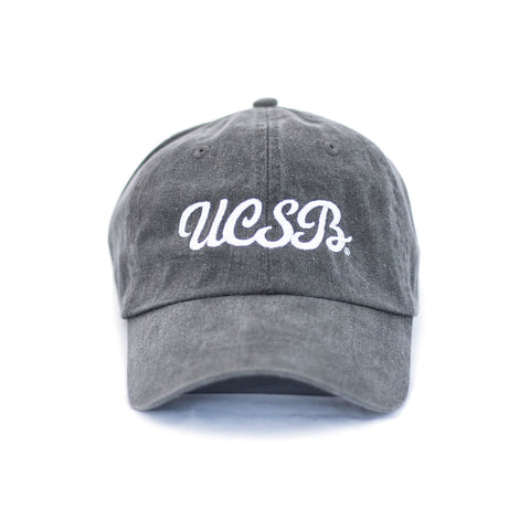 UCSB Pigment Dyed Initials Cap - Washed Black