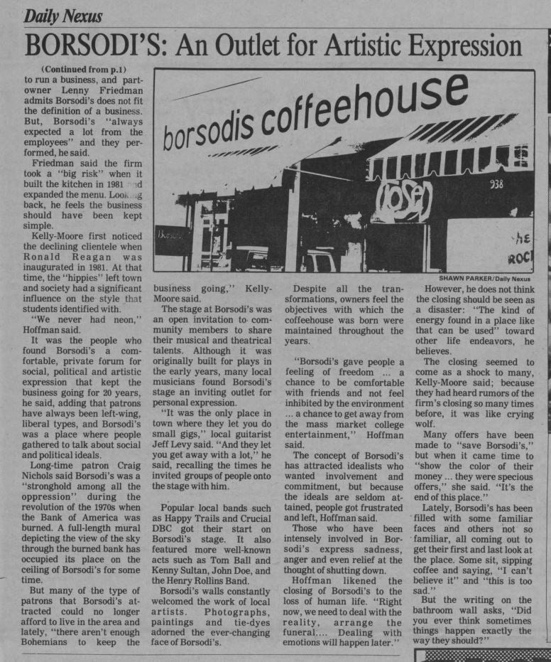 The Nostalgia Collection - Borsodi's Coffeehouse
