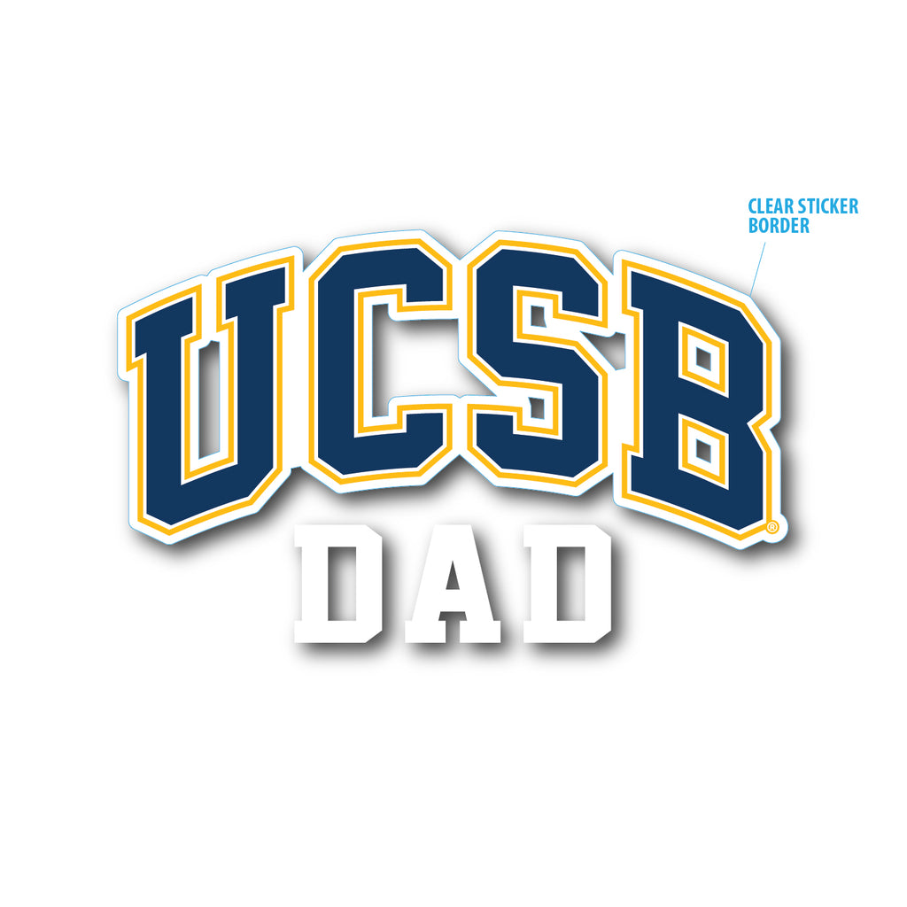 UCSB Dad Die Cut Sticker