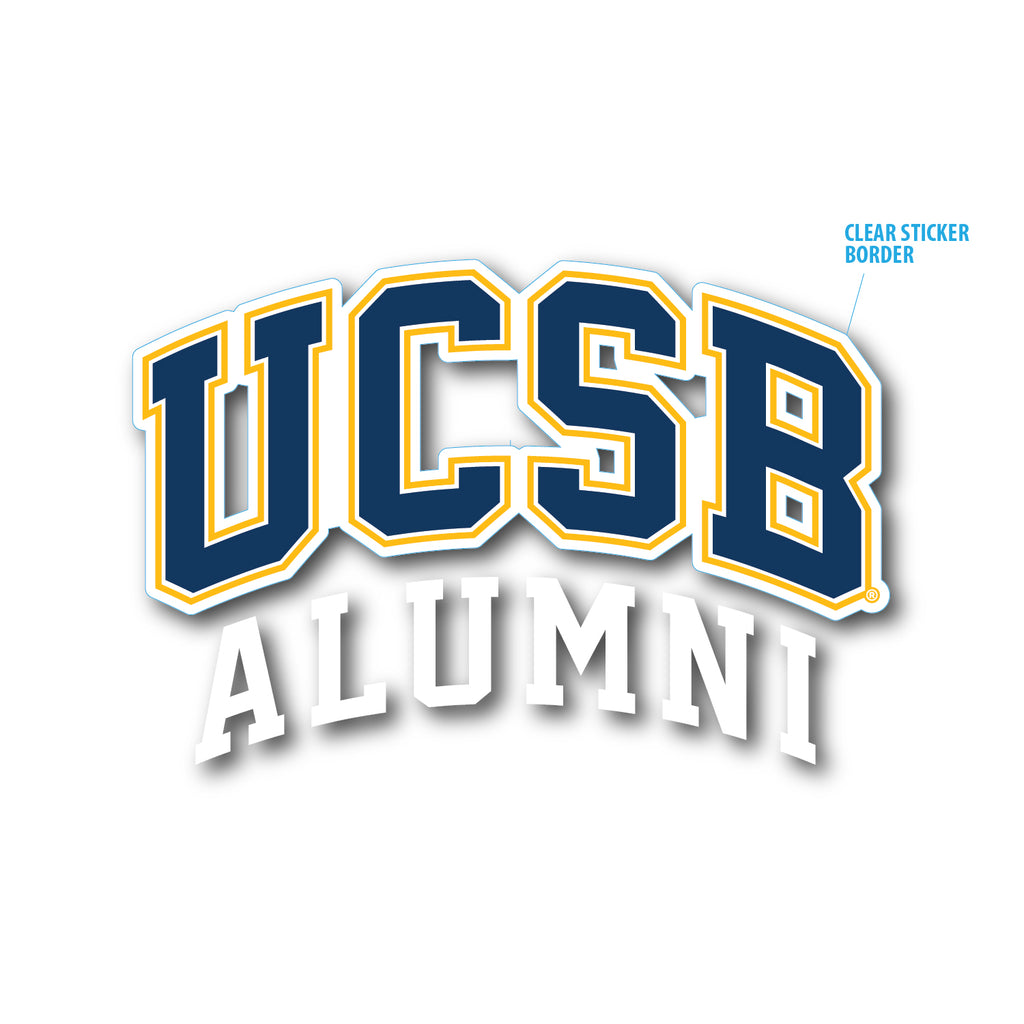 UCSB Alumni Die Cut Sticker