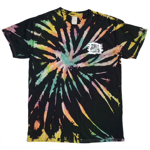 Isla Vista Blowin' Smoke Tie Dye Tees - Black