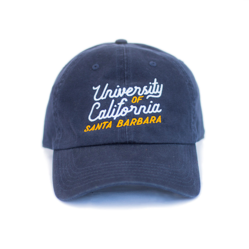 58f3b14a235 UCSB Dad Cap - Navy Script – Island View Outfitters