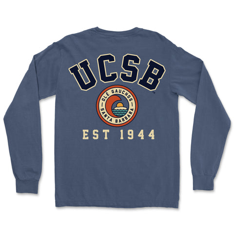UCSB Pigment Dyed Long Sleeve with Pocket