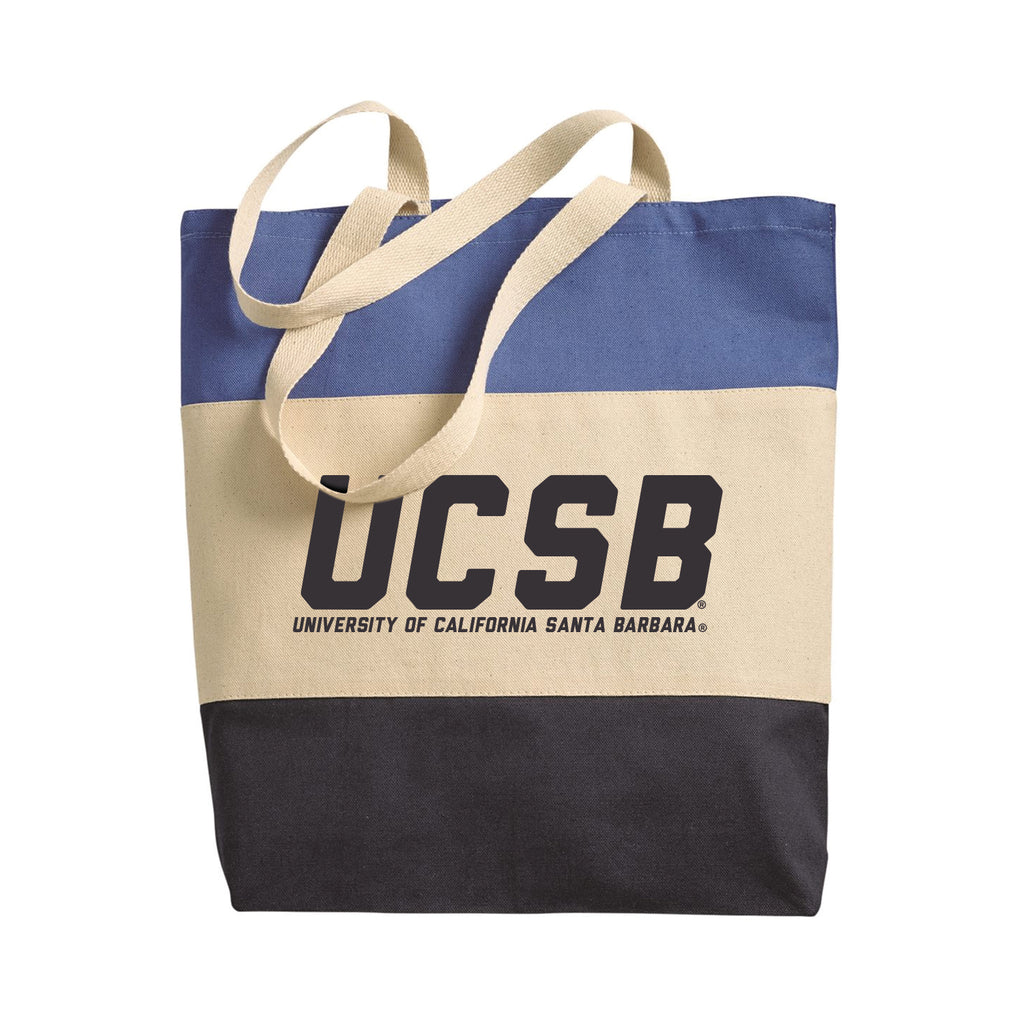 UCSB Tri-Colored Tote Bag
