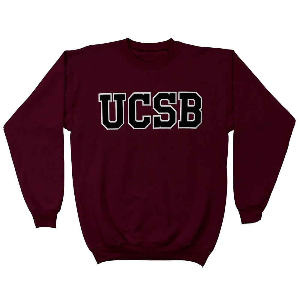 UCSB Applique Crewneck - Black Twill