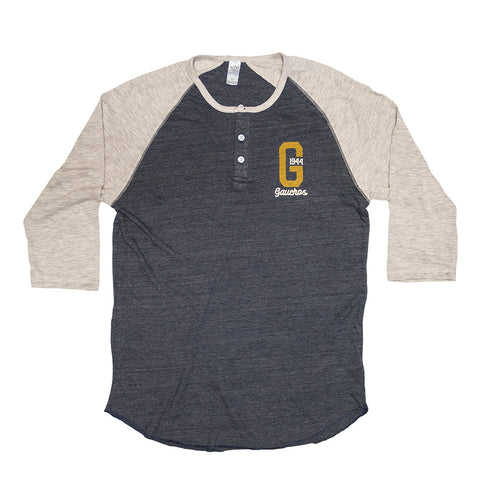 UCSB Gauchos Blended 3/4 Sleeve Henley