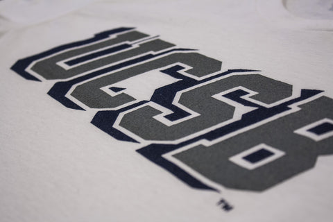 UCSB Italics White Tee