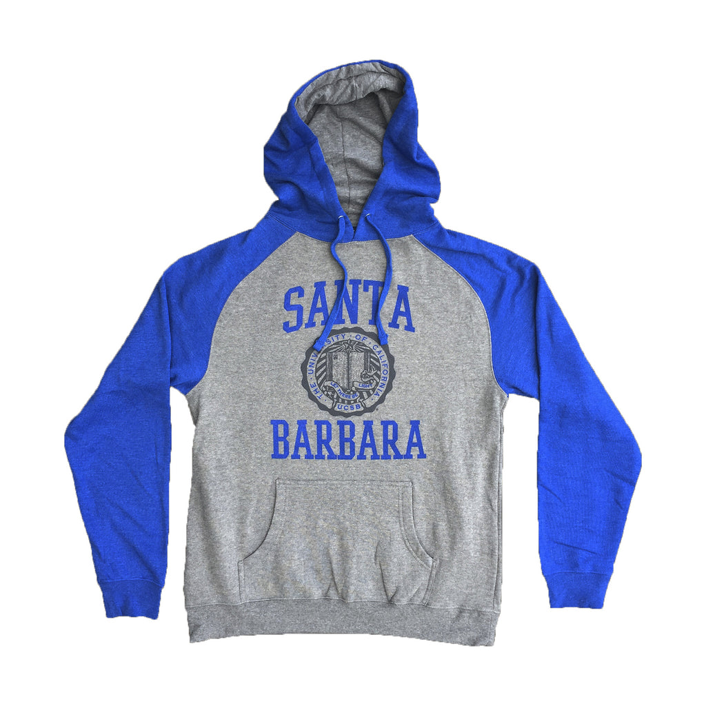 UCSB Retro Raglan Hooded Pullover
