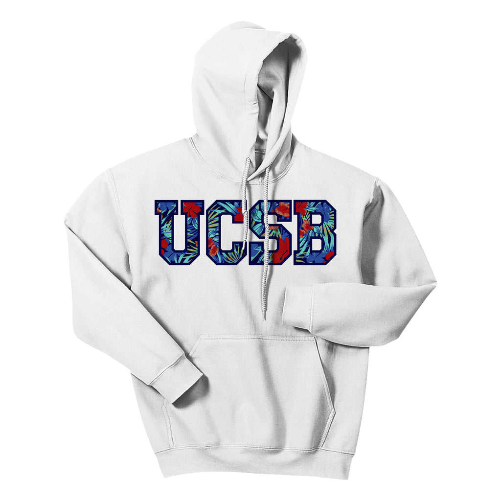 UCSB Floral White Hoodie