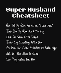 Super Husband Cheat-Sheet - Infinity A T-SHIRT