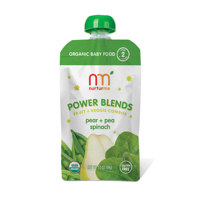 Power Blends <br/> pear, pea, spinach<br/>6-pack box
