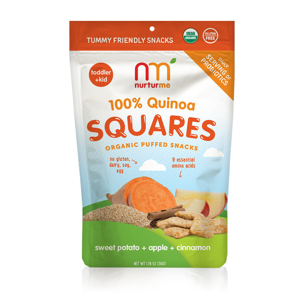 Quinoa Squares <br/> sweet potato + apple + cinnamon <br/>5 snack packs