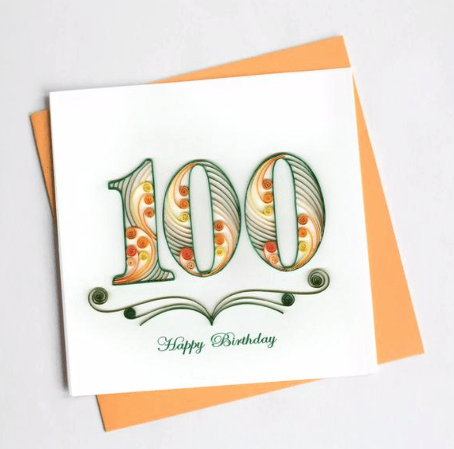 100th Birthday Quilling Card Quilling Card Llc Cards