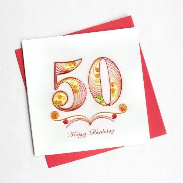 50th Birthday Quilling Card Quilling Card Llc Cards
