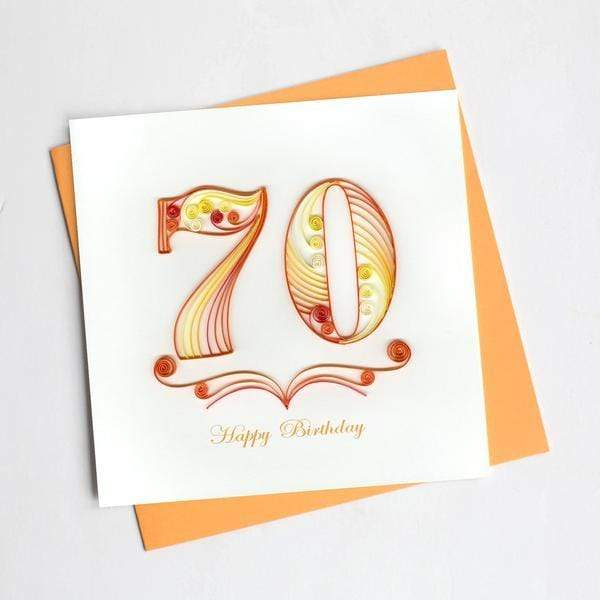 70th Birthday Quilling Card Quilling Card Llc Cards