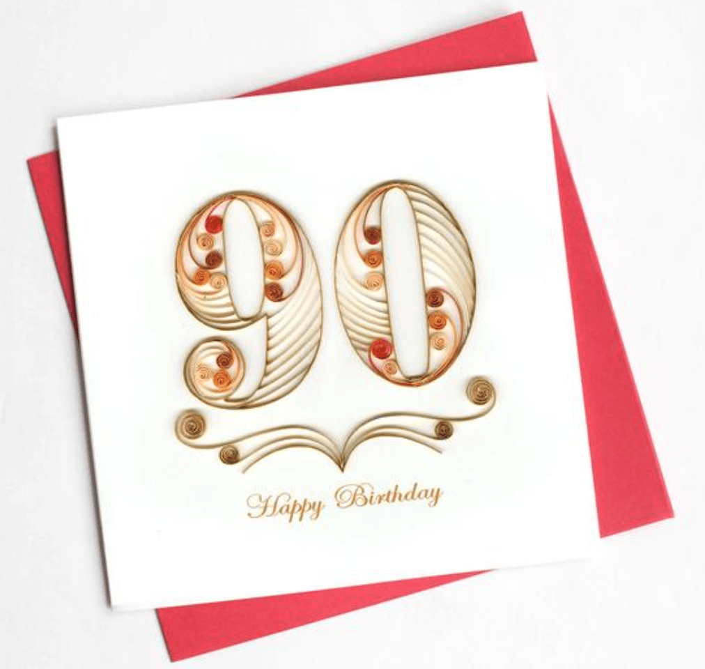 90th Birthday Quilling Card Quilling Card Llc Cards