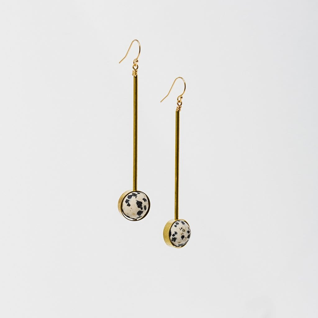 Aberrant Earrings - Dalmatian Jasper Larissa Loden Jewelry