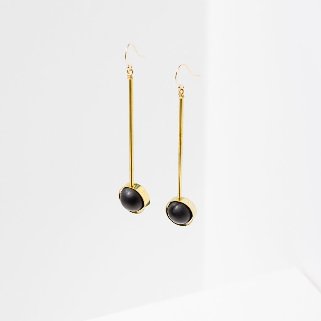 Aberrant Earrings - Onyx Larissa Loden Jewelry