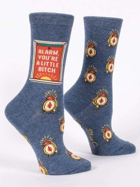 Alarm You're A Little Bitch Ladies Socks Blue Q Clothing