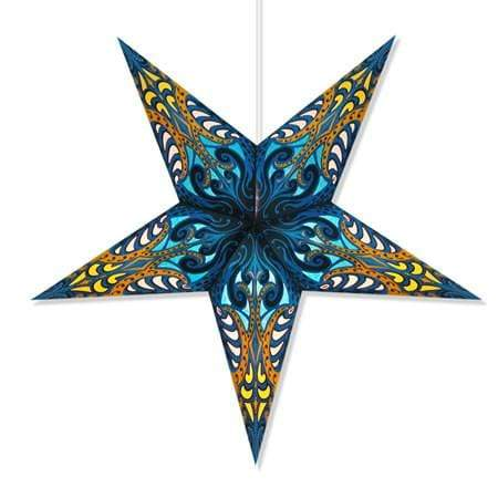 Andromeda Hanging Star Lantern - Blue Whirled Planet Home Decor