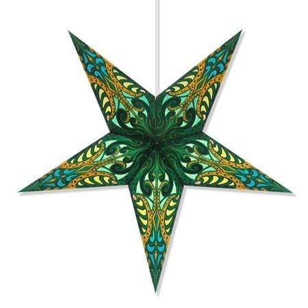 Andromeda Hanging Star Lantern - Green Whirled Planet Home Decor