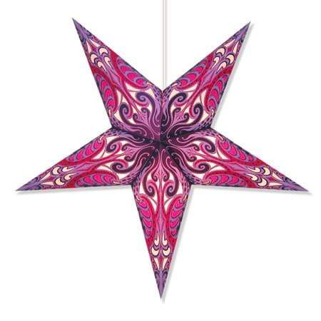 Andromeda Hanging Star Lantern - Lavender Whirled Planet Home Decor