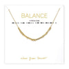 BALANCE Wear Your Secret Necklace - Gold Little Be Designs - Wear Your Secret Jewelry